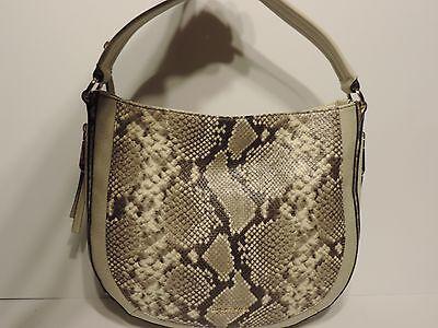 fb3b80f12758c8 ... New MICHAEL KORS JULIA Convertible Tote-Ecru Python Snake Embossed  Leather bag 2