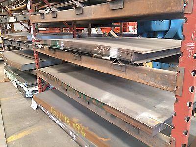 """1//2/"""" .500 HRO Steel Sheet Plate 12/"""" x 24/"""" Flat Bar A36"""