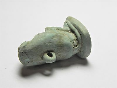 Zurqieh -Af2104- Ancient Egypt , Faience Baboon Amulet.1075 - 600 B.c 5
