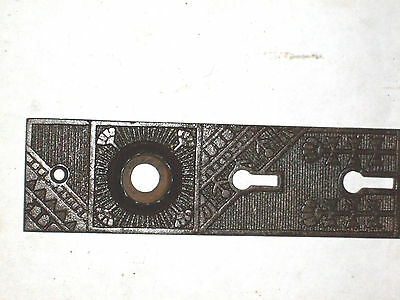 Antique Eastlake Victorian Era Steampunk Door Knob Backplate 3