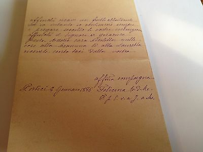 1886 --Meia cara Nicoletta (4 Page signed letter w/Envelope, Napoli, Cento Baci 7