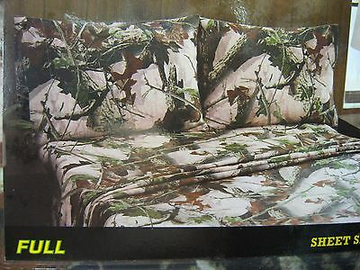 Remington Brittany/'s Pink Camo Camouflage Full Size Bed Sheets /& Pillowcase Set