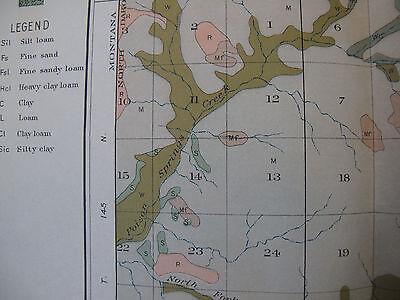 Color Soil Survey Map McKenzie North Dakota Bennie Pierre Creek Sheep Butte 1907 3