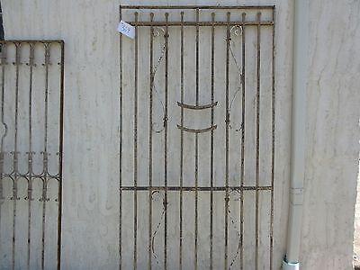 Antique Victorian Iron Gate Window Garden Fence Architectural Salvage Door #369 4