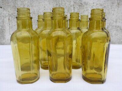 2 x alte kleine grüne Medizin Glas Apotheke Apotheker Flasche ca. 9,7 cm grün 2