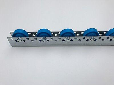 Rollenleiste Röllchenleiste Rollenschiene mit Kunststoffröllchen Ø 48 mm