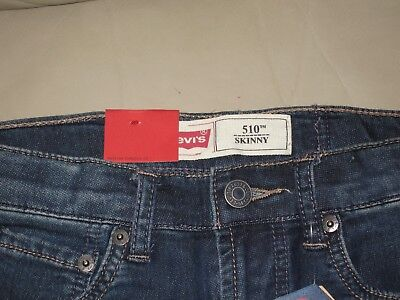Levi's Boys Blue Wash 510 Skinny Fit Knit Denim Jeans, Size 10 140cm 5