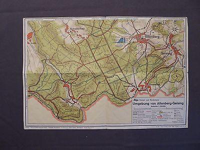 Landkarte Phönix Heimat- und Wanderkarte Umgebung von Altenberg - Geising, 1955
