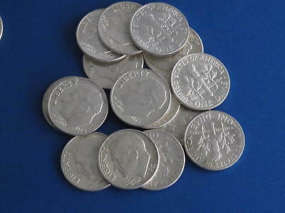 Roosevelt Dimes $3 face value - 30 dimes mixed dates 90% silver US Coins 3