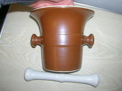 Uralter Apotheker Porzellanmörser Mörser um 1910 Höhe 14cm , Durchmesser 17cm 5