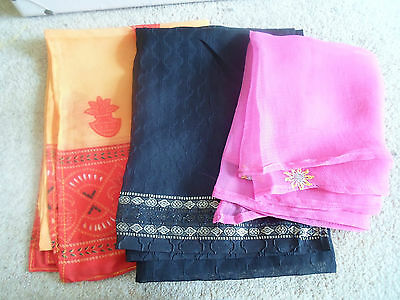 3 NEW Colourful Mixed Fibre Ethnic Scarves Ladies Scarf ~ Xmas Gift Idea  #33 4