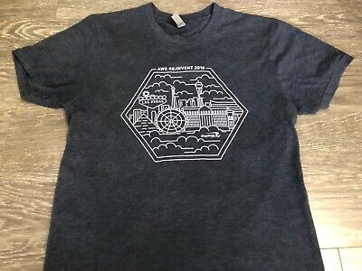AMAZON Web Services AWS RE:INVENT 2018 Capital One T Shirt Small Used 3
