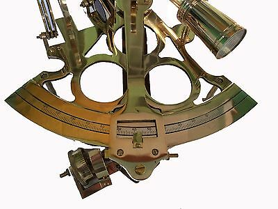 "Antique Brass Sextant Nautical Working Maritime Astrolabe Ships Instruments 8"" 3"