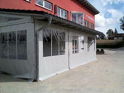 650g LKW-Plane transparent 0,5mm Fensterfolie Folie Terasse Balkon Fensterplane