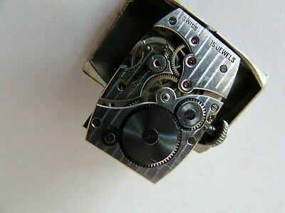 Antique Art Deco Montre Porcel Suisse Swiss Manual Wind Ladies Wristwatch 5