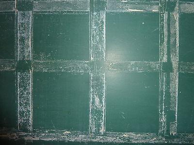 "antique ORIGINAL circa 1920's schoolhouse SLATE chalkboard 62.5"" x 42"" UTICA, NY 3"
