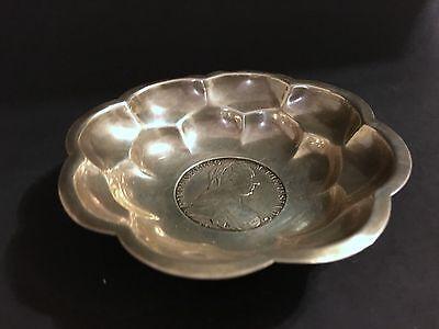 Austria Maria Theresa Thaler Trade Coinage Restrike 1780 Silver Bowl Signed