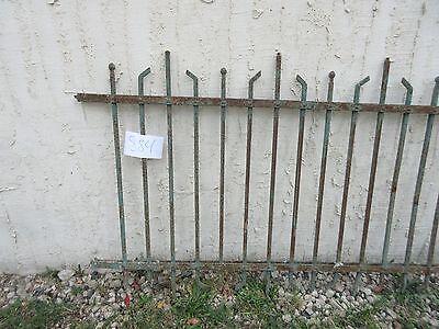 Antique Victorian Iron Gate Window Garden Fence Architectural Salvage #884 2