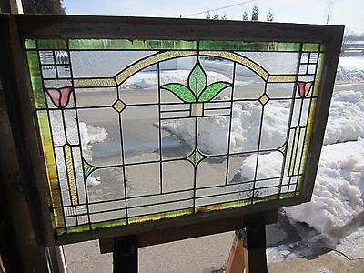~ Antique American Stained Glass Window Arts & Crafts ~ Architectural Salvage ~ 2