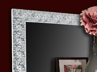 Specchio Moderno Da Parete Argento Camera Da Letto Bagno Soggiorno Eur 105 00 Picclick It