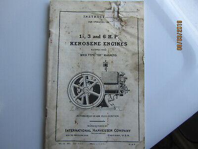 1925 International Harvester 1 1/2 to 6 HP Kero Engine Instruction Manual EK mag 2