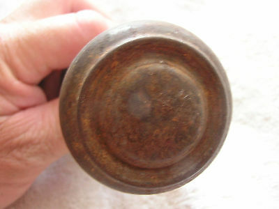 Antique Set 2 Spartan Metal Door Knobs