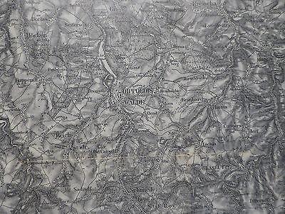 Karte des Deutschen Reiches 443 Dippoldiswalde, Freiberg, Tharandt, Mulda, 1919