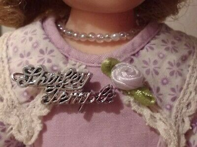 Repro of 1950/'s SILVER SCRIPT SIGNATURE PIN for Ideal Vinyl Shirley Temple Doll