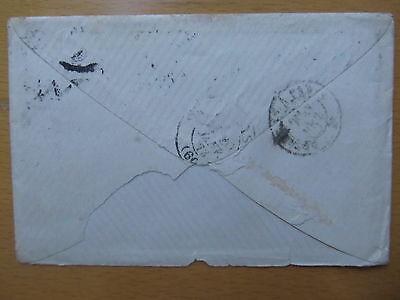 LETTRE 19/01/1873 avec 25c Cérès YT60A  GC 828