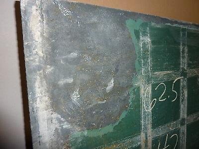 "antique ORIGINAL circa 1920's schoolhouse SLATE chalkboard 62.5"" x 42"" UTICA, NY 8"