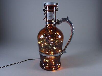 Flaschen Lampe Ratskeller Pils Krug rustikal Tischlampe mit 120 LED´s ww+MC 3