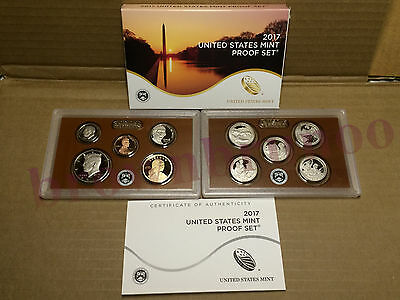COINS  US Mint Box w COA UNSEARCHED 10 2017 S COMPLETE SILVER PROOF SET OF
