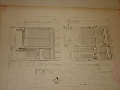Gothische Holz-Architektur 1870 German Gothic Architecture Folio Huge 48 Plates 7