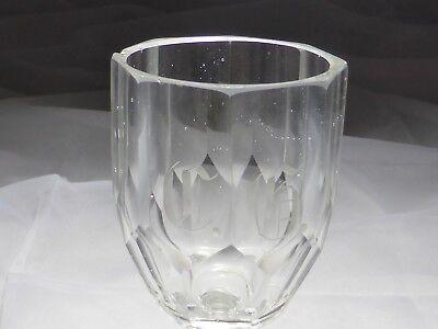 Monogramm Kelchglas geschliffen graviert wohl Böhmen um 1900 (Nr. 1123) 2