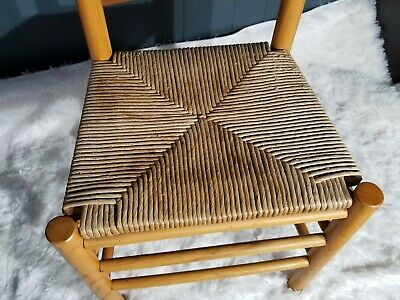 Antique Shaker Style Ladder Back Accent Chair Woven Seat (2 available) 12