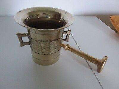 Antiker Apothekenmörser mit Pistill - BRONZE- 19.Jahrhundert / BIEDERMEIER 7