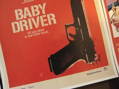 """Baby Driver  (11"""" x 17"""") Movie Collector's Poster Prints (Set of 3) 5"""
