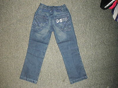 "George Relaxed Fit Jeans Waist 21"" Leg 19"" Faded Dark Blue Boys 5/6 Yrs Jeans 3"