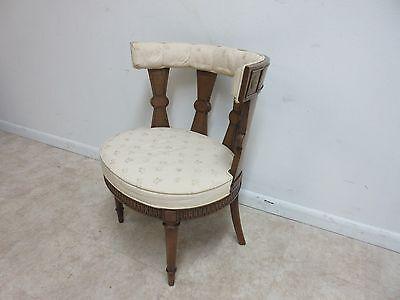 Vintage Italian Regency Fireside Side Lounge Living Room Side Chair B 4