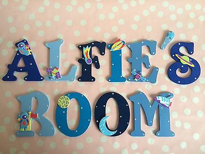 Outstanding Personalised Child Kids Bedroom Wall Door Wooden Letter Name Plaque Sign Plate Home Interior And Landscaping Oversignezvosmurscom