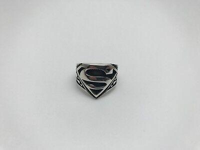 Turkish Jewelry Cool Superman Motif 925K Sterling Silver Mens Ring