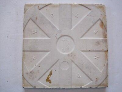 Antique J.h.barratt Majolica Glazed Moulded Fruit Wall Tile - C1900 -1925 2