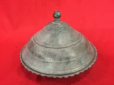 Gorgeous Antique Islamic Bronze Plate Ottoman Handmade Imperial Plate Persian 11
