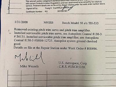 EDO AIRE MITCHELL Century IV Autopilot Pitch Servo P/N 1C470-1-303P  (1016-65)