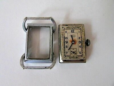 Antique Art Deco Montre Porcel Suisse Swiss Manual Wind Ladies Wristwatch 3