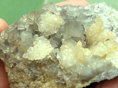 """Minerales """" Extraordinarios Cristales Cubicos De Fluorita Marruecos  -  9A13 """" 3"""