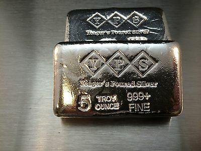 5oz Hand Poured 999 Silver Bullion Bar by Yeager's Poured Silver YPS 2