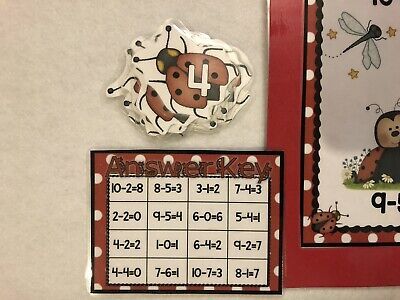 Cuddly Kittens Addition subtraction  math Centers File Folder Games 1st grade