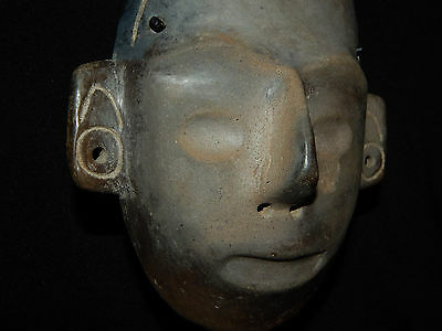 Pre-Columbian Life-Size Colima Death Mask, Shaft Tomb, Archaic, 100% Authentic 4