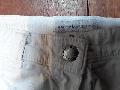 Hose,Stoff,weich,weiß,original BELLYBUTTON ,86,1 Jahr, 2 Jahre,Jungen,Mädchen 3